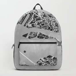 Venice Italy City Map Backpack