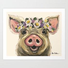 Farm Animal Art, Pig Art Art Print