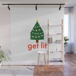 Get Lit Christmas Tree Wall Mural
