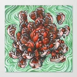 Dog Lotus Canvas Print