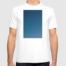 moon and seagull Mens Fitted Tee White MEDIUM
