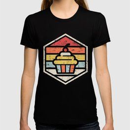 Retro Badge Cupcake T-shirt
