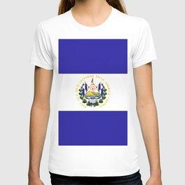 El Salvador flag emblem T-shirt
