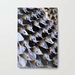 Abstract Metal Weave Pattern Photograph Metal Print