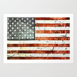 Painted Stars And Stripes Art Print