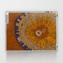 Growing - ginkgo - plant cell embroidery Laptop & iPad Skin