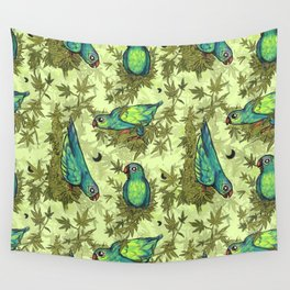 Parrots & Weeds Wall Tapestry