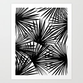 Tropical Fan Palm Leaves #2 #tropical #decor #art #society6 Art Print
