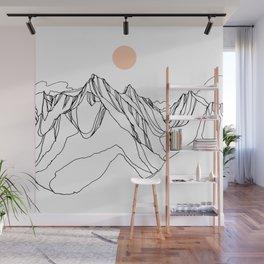 Mount Jumbo :: Single Line Wall Mural