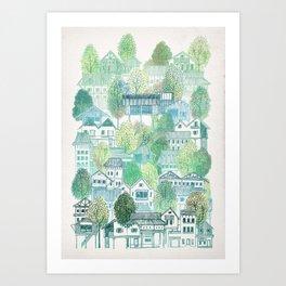 Jungle Village Art Print