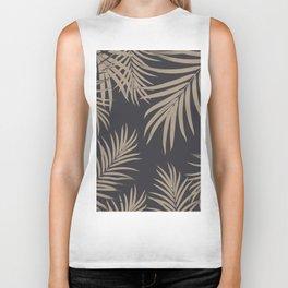 Palm Leaves Pattern Sepia Vibes #2 #tropical #decor #art #society6 Biker Tank