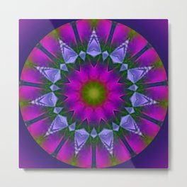 Abstract metallic flower Metal Print