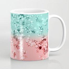 Summer Vibes Glitter Stars #1 #coral #mint #shiny #decor #art #society6 Coffee Mug