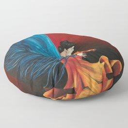 Spanish Flamenco Dancer Floor Pillow