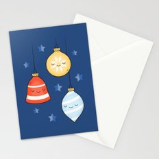 Merry Christmas! Jolly Stars, Baubles & Bells Stationery Cards