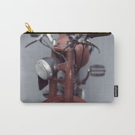Motorcycle photography, old motorbike, man cave wall art, gift, mancave sign Carry-All Pouch