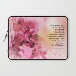 Serenity Prayer Quince Fence 3 Pink Laptop Sleeve