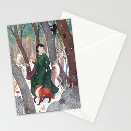Dancing in the snow Stationery Cards