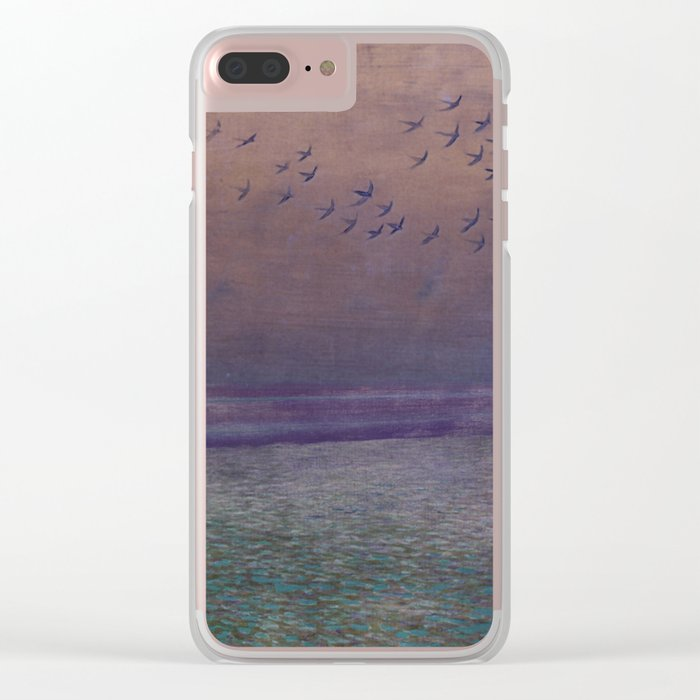 'under every deep a lower deep opens' Clear iPhone Case