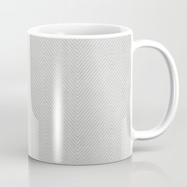 Stitch Weave Geometric Pattern in Grey Coffee Mug