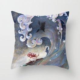 A fearless girl Throw Pillow