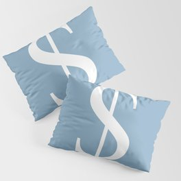 dollar sign on placid blue color background Pillow Sham