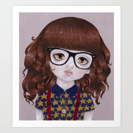 Margot- Hipster Girl Art Print