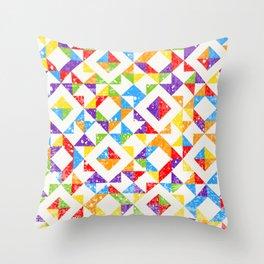 RAINBOW Mosaic 04 textured Throw Pillow