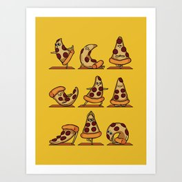 Pizza Yoga Art Print