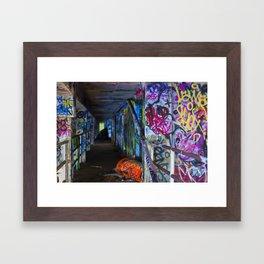 Miami Marine Stadium Hallway Framed Art Print