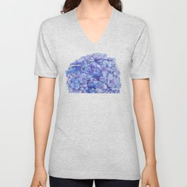 Watercolour Hydrangea Unisex V-Neck