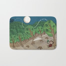 The little big forest Bath Mat