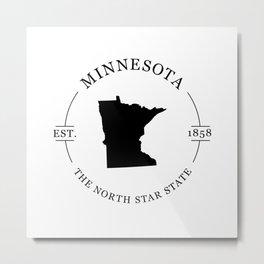 Minnesota - The North Star State Metal Print