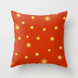 Pattern-YR Stars Throw Pillow