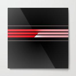 Team Colors 5...red,gray Metal Print