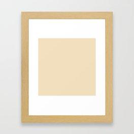 NEW YORK FASHION WEEK 2019- 2020 AUTUMN WINTER VANILLA CUSTARD Framed Art Print