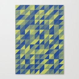Chartreuse Sea Canvas Print