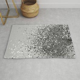 Soft Silver Gray Glitter #1 (Faux Glitter - Photography) #shiny #decor #art #society6 Rug