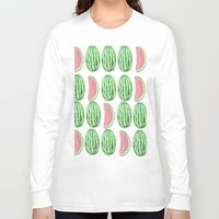 watermelon Long Sleeve T-shirts featuring Watermelon by Alexis Gonopolsky