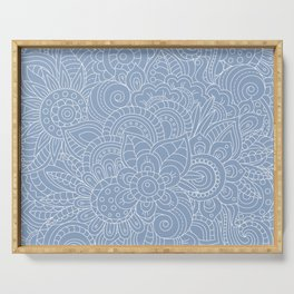 Background abstract flowers, doodleart, graphic-desing vector pattern. Serving Tray