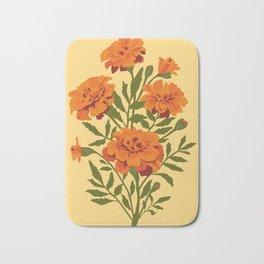 Marigold Flowers Bath Mat