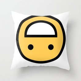 Smiley Face   Upside Down Happy Laughing Smileys Throw Pillow