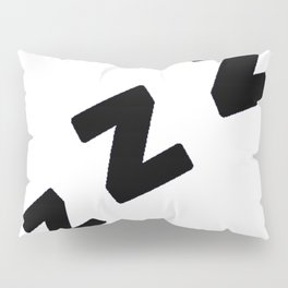 Zzzs in Black Pillow Sham