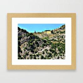 Small house on the mountain  Framed Art Print