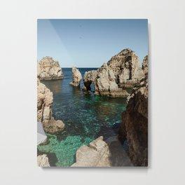 Dreamy cliffs and turquoise sea water, Ponta da Piedade Metal Print
