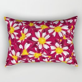 Burgundy Orange Selago Flora Rectangular Pillow