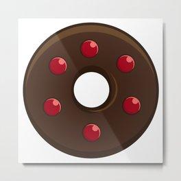 Red Velvet Marbles meet Choco Doughnut / Donut Metal Print