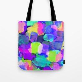 Brushstroke Blue Tote Bag