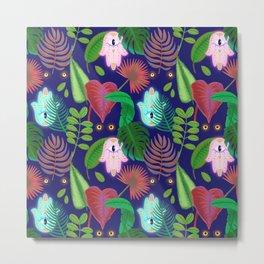 Tropical Hamsa Metal Print