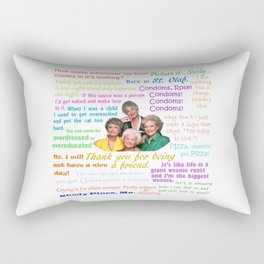 Golden Girl Quotes Rectangular Pillow